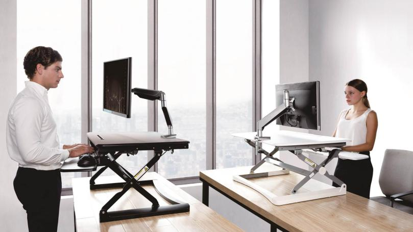 dc1f3-PrimeCables-Cab-MT101-S-Monitor-Desk-Mounts-Height-Adjustable-Standing-Desk-Riser-Standing-Working-Table-Desk-S-Size-26-wide-Black-PrimeCables-