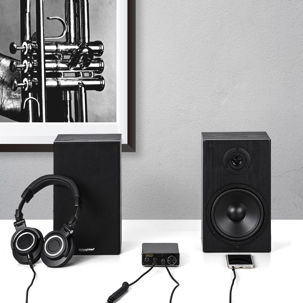 PrimeCables-Cab-AMP30-BK265-Speakers-Subwoofer-Mini-Amplifier-30-Watt-Class-D-Hi-Fi-6-5-2-Way-Bookshelf-Speakers-Pack-PrimeCables-