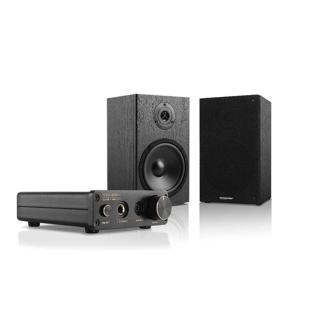 PrimeCables-Cab-AMP30-BK265-Speakers-Subwoofer-Mini-Amplifier-30-Watt-Class-D-Hi-Fi-6-5-2-Way-Bookshelf-Speakers-Pack-PrimeCables