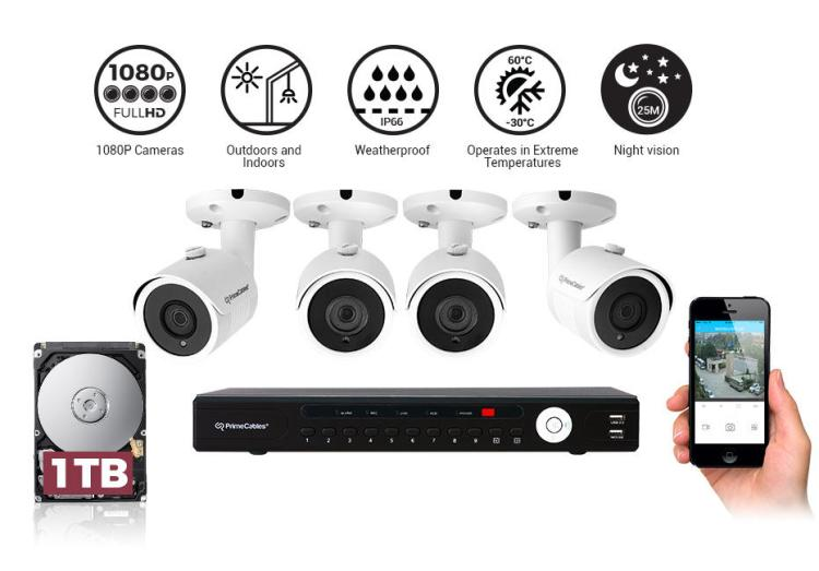 3c444-PrimeCables-Cab-surveillance-Kit-Surveillance-Accessories-Security-Camera-System-with-4-1080P-Night-Vision-Cameras-and-1TB-XVR-Digital-Recorder-PrimeCables-