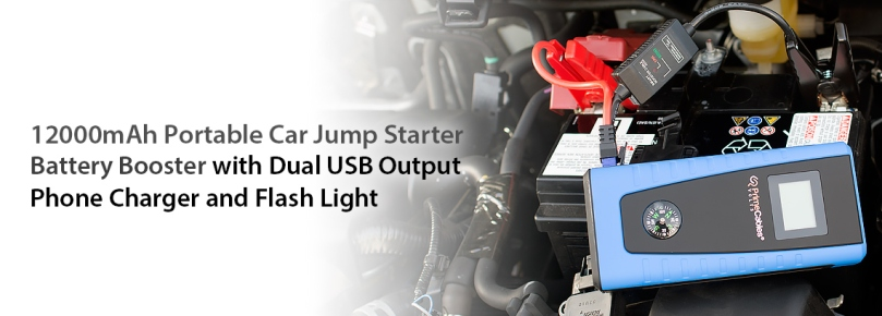 12000mA Portable Car Jump Starter Battery Booster