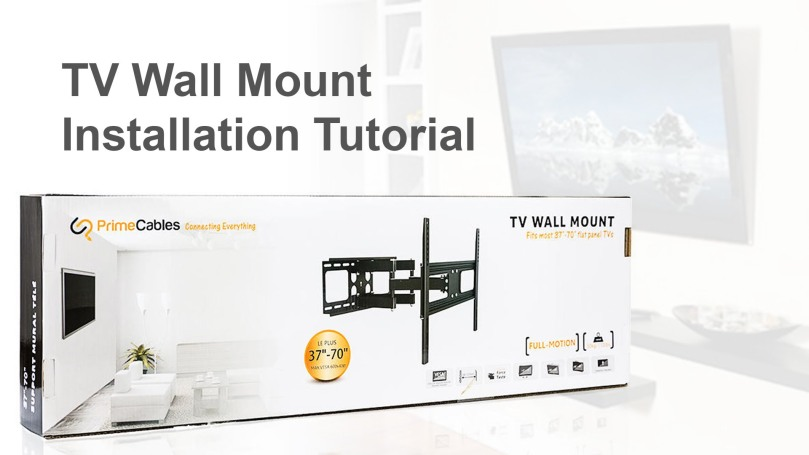 buy primecables tv wall mount