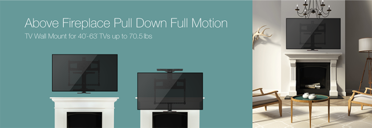 PrimeCables full motion TV wall mount