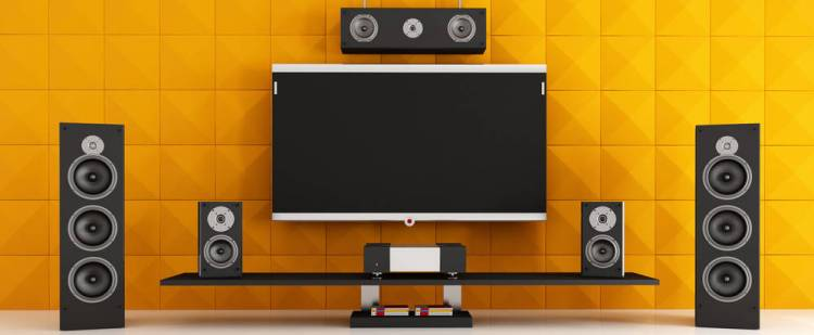 Cheaper home theater mounting solution
