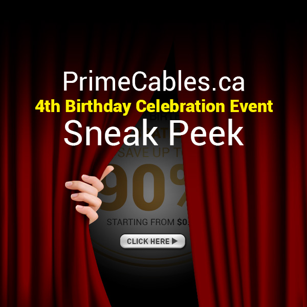 PrimeCables 4th birthday anniversary sale