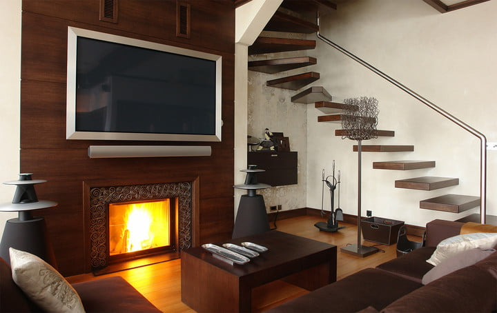how to install tv wall mount above fire place?
