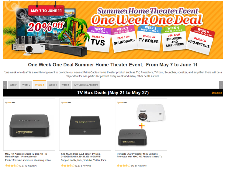 PrimeCables summer home theater event