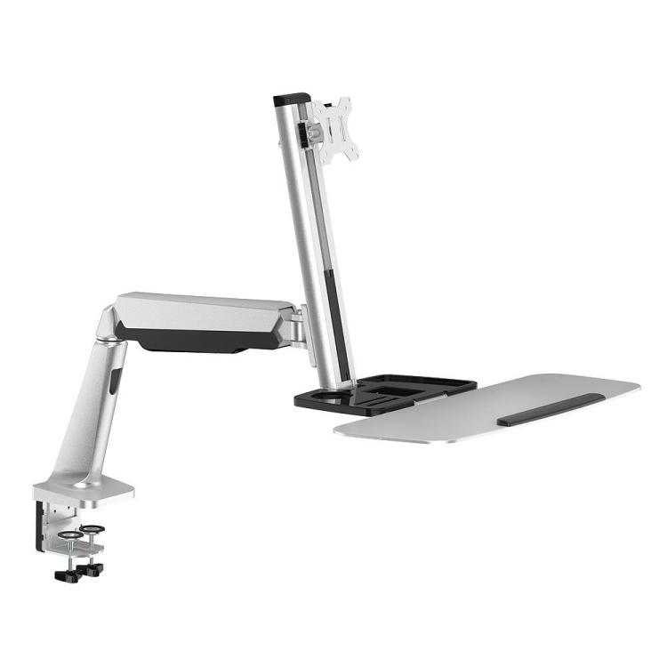 PrimeCables® Single Monitor Adjustable Gas Spring Desk Mount
