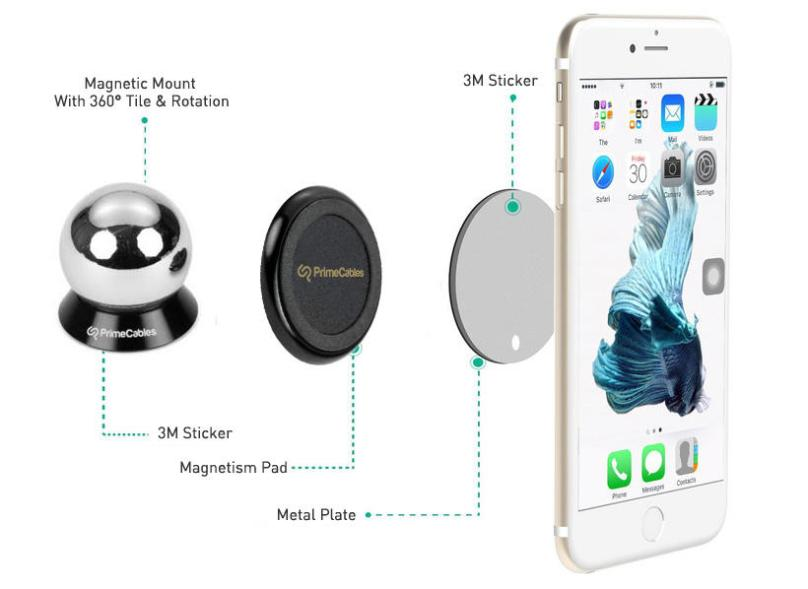 magnetic phone mount primecables
