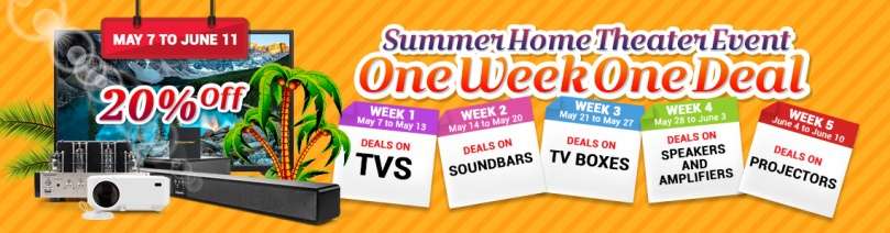 Home theater weekly deal