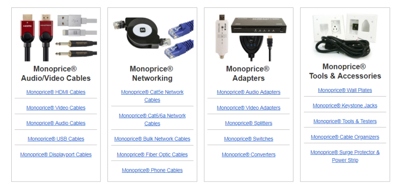 buy monoprice cable in canada