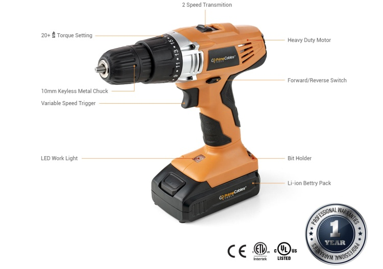 Power drill tool from PrimeCables