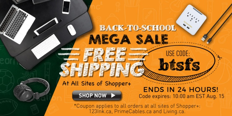Back to school free shipping code primecables