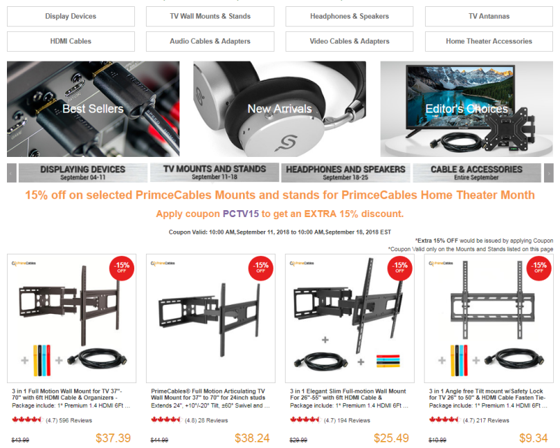 PrimeCables Home Theater System Accessories