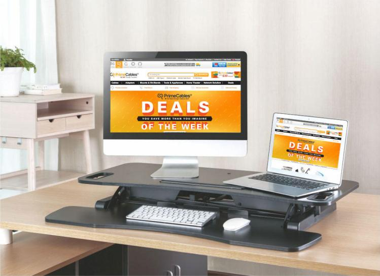 PrimeCables height adjustable sit stand desk
