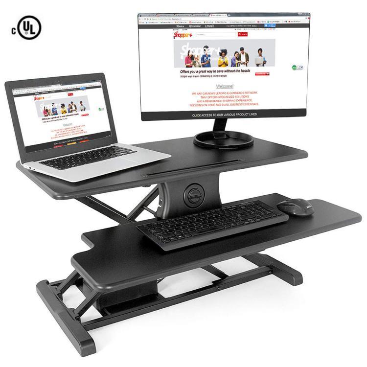 PrimeCables sit stand desk adjustable mount