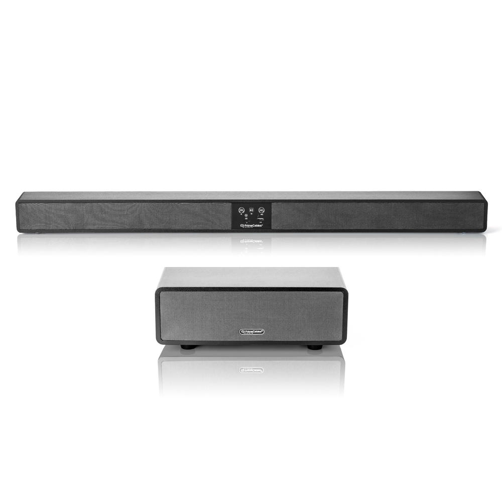 PrimeCables sound bar with subwoofers
