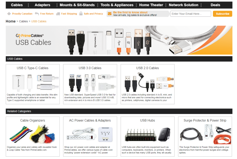 primecables cable charing