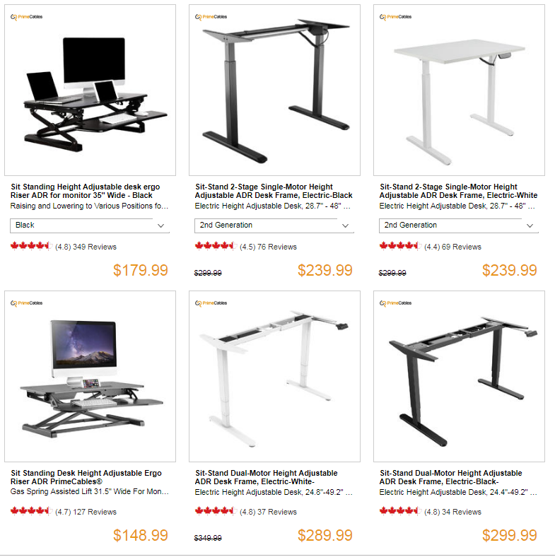 sit stand desk [price might be varies due to promotion timeframe]