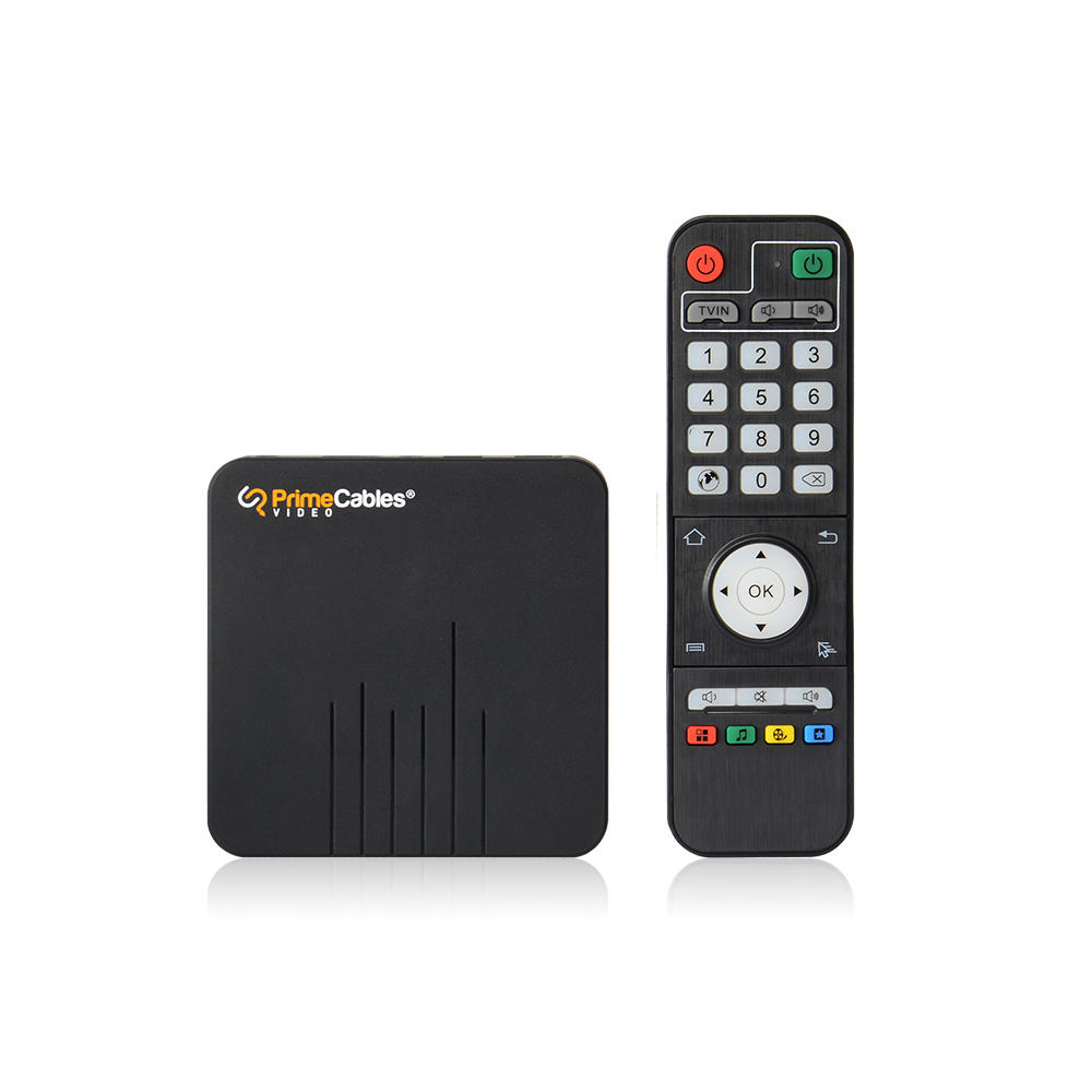 a TV box and a remote controller
