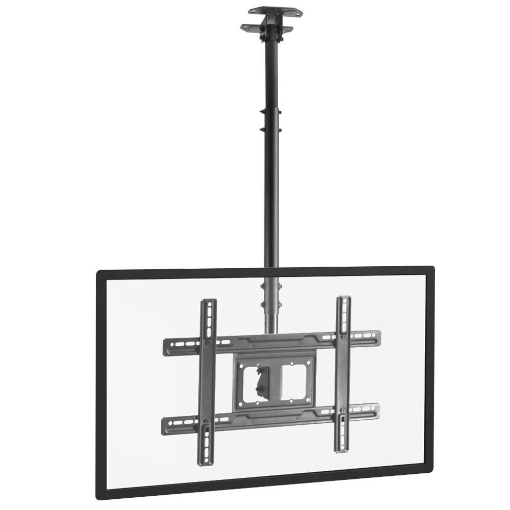 a black tv mount