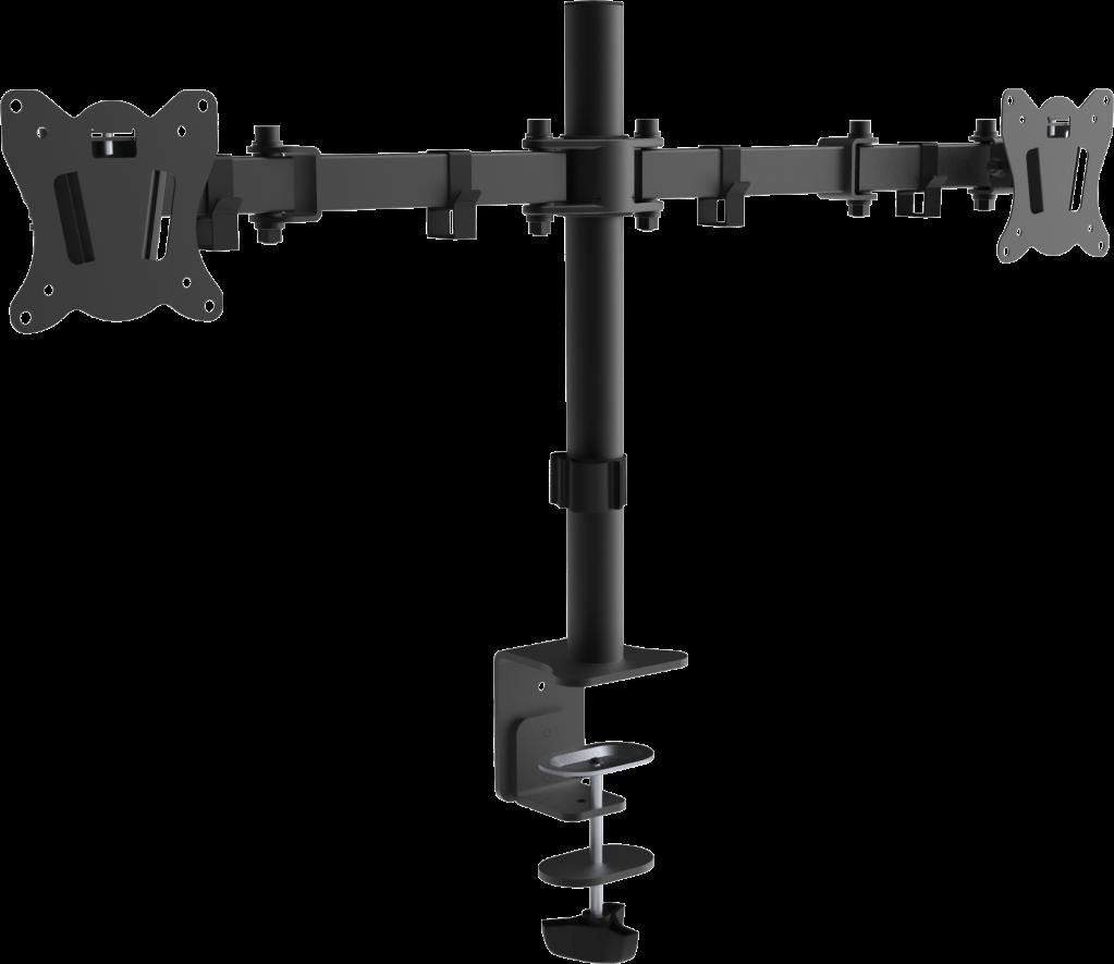 Full Motion Dual Monitor Desk Mount